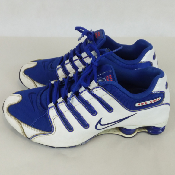 d5c88ef20216 Nike Shox Blue White Sneakers Size 8.5. M 5bf0938b0cb5aa500d7c6fa4